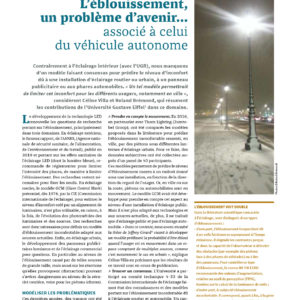 309_PERSPECTIVES_L'éblouissement, un problème d'avenir associé à celui du véhicule autonome